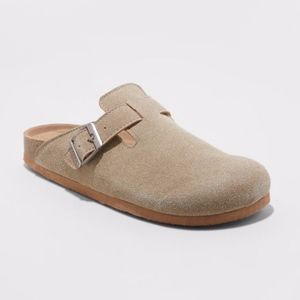 Mad Love Tina Microsuede Slip On Clogs Taupe